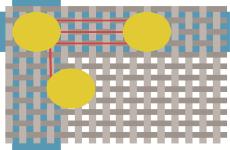 Manhattan Distance als Pathway im PCB Editor