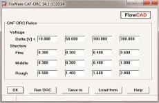 FloWare CAF DRC in PCB Editor