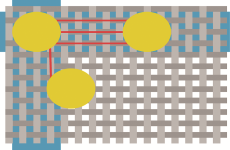 Manhattan Distance as Pathway in PCB Editor