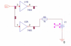 Inverter 7404 vs. 7405