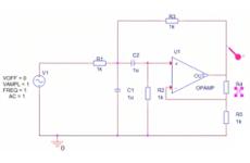 Aktiver Bandpass mit Einfachmitkopplung