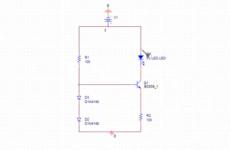 Stromregelung einer Leuchtdiode LED