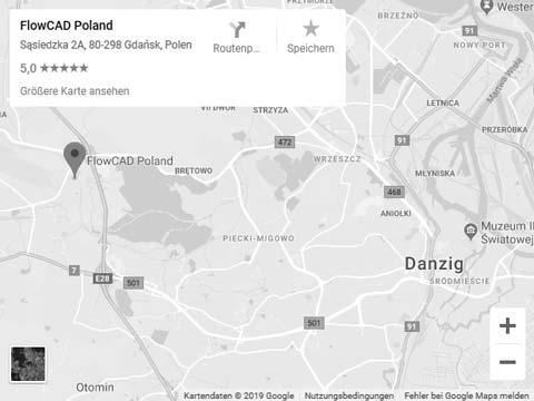 Map of FlowCAD location