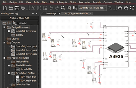 PSpice Integrated on OrCAD PCB Flow
